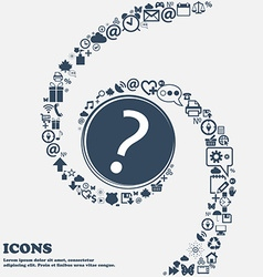 Question mark sign icon Help symbol FAQ sign in vector