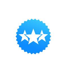Ranking rating badge vector