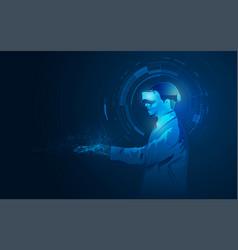 remotesurgery vector image