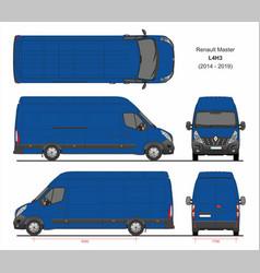 Renault master cargo delivery van l4h3 2014-2019 vector