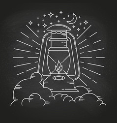 rustic camping lantern vector image