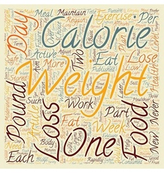 Safe Weight Loss Part 1 text background wordcloud vector image
