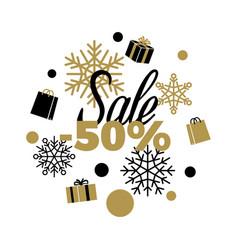 sale winter discount -50 sale vector image