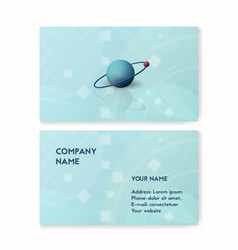 science business card blue vector image
