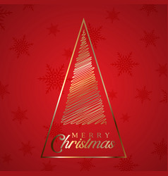 scribble christmas tree background vector image