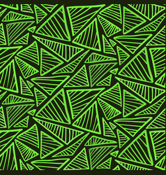 seamless pattern with bright green triangles vector image