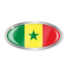 Senegal flag oval button vector