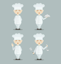 Set funny cooks vector