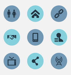 resume contact icons vector images 34