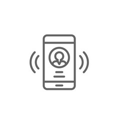 Smartphone call man outline icon elements of vector