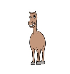 Smiling horse vector image