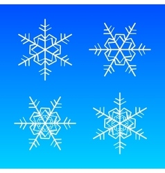 Snowflakes white isolated on blue vector