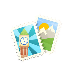 stamps flat icon vector image