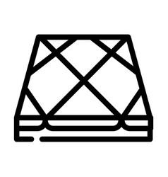 Tile layer floor line icon vector