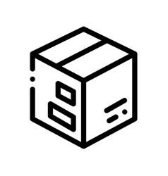 transportation carton box thin line icon vector image