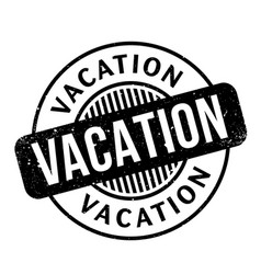 Vacation rubber stamp vector