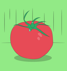 vegetables and fruits are on the table vector image