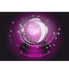 violet cristal ball vector image