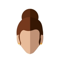 Woman head icon Avatar female design vector image