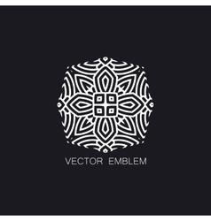 Art-deco white emblem vector