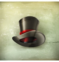 Cylinder hat old style vector image