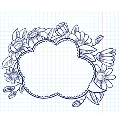 frame with camomile vector image vector image