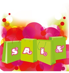 sale shopping bags vector image vector image