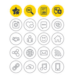 social media icons speech bubble lovers vector image vector image
