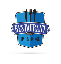 blue restaurant design vector image