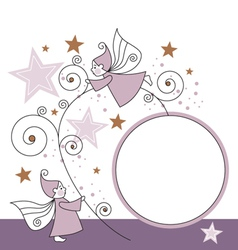elves and stars vector image