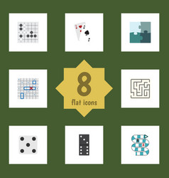 flat icon play set of gomoku labyrinth ace and vector image vector image