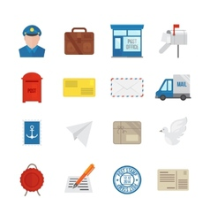 Post Service Icons Flat vector image