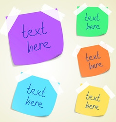 set of colorful sticky memo notes vector image vector image