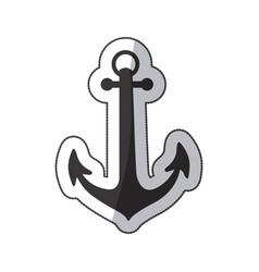 sticker black silhouette anchor icon design vector image vector image