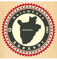 Vintage label-sticker cards of Burundi vector image vector image