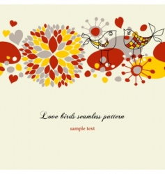 love birds pattern vector image
