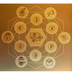 Money Flat icon set for Web and Mobile Application vector image vector image