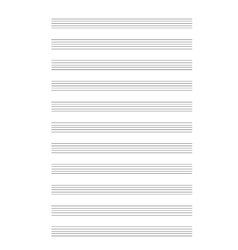 Music note stave a4 sheet vector