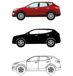 set of terrain vehicles in flat style colored vector image vector image