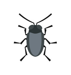 small bug icon flat style vector image vector image