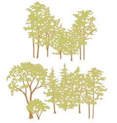 Trees002 vector image vector image