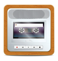 Cassette recorder vector image vector image