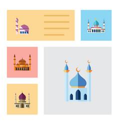 flat icon minaret set of traditional vector image