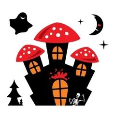 Halloween castle cartoon vector