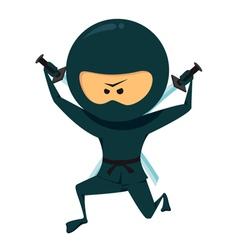Ninja With Katana vector image