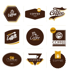 Retro styled coffee labels badges vector