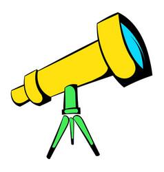 telescope icon icon cartoon vector image