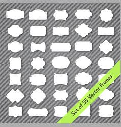vintage frame set with 35 simple shape labels vector image
