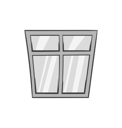 Window icon black monochrome style vector image vector image