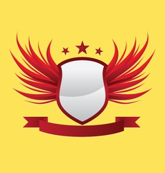 Wing-shield-red vector